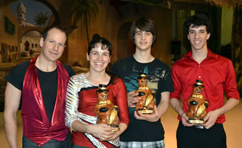 2011 PHIL Winners - Neil and Heather, Austin Bruckner and David Ferman